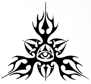 All Seeing Eye Tribal Tattoo