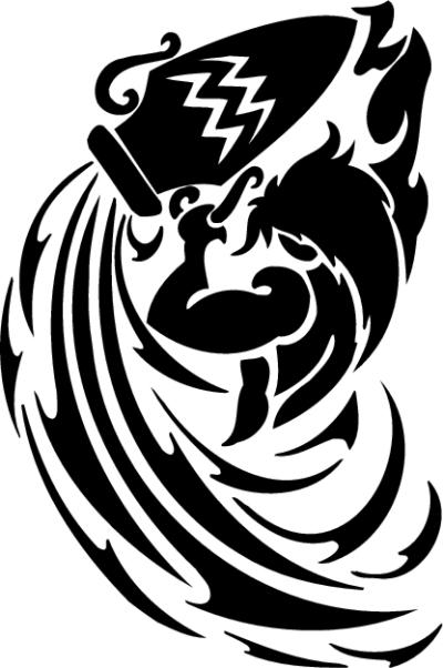 55a9411449f60 13 Cool Aquarius Tribal Tattoo