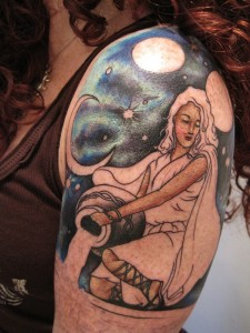 Aquarius Woman Tattoo