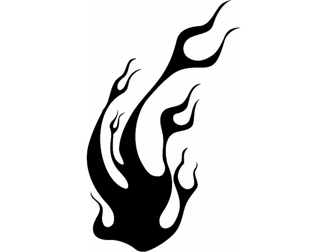 23 wonderful tribal fire and flame tattoo only tribal for Black and white flame tattoo