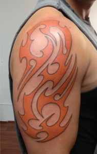 Colored Tribal Tattoo