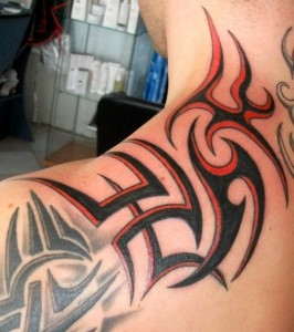 Colored Tribal Tattoos
