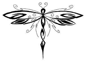 8 Creative Tribal Dragonfly Tattoos