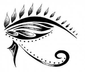 Eye of Horus Tribal Tattoo