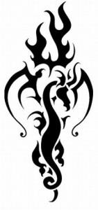 Fire Tribal Tattoo Designs