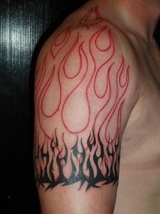 Flame Tribal Tattoo