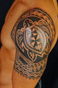 Hawaiian Tribal Warrior Tattoos