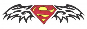 Superman Logo Tribal Tattoos