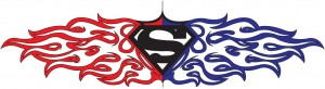 Superman Tribal Tattoo Designs