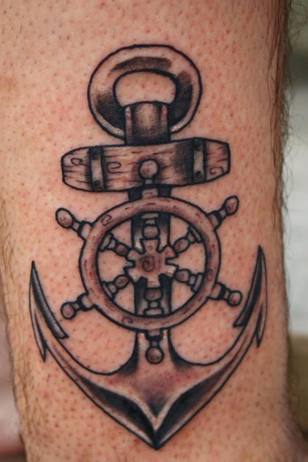 10 Creative Tribal Anchor Tattoos