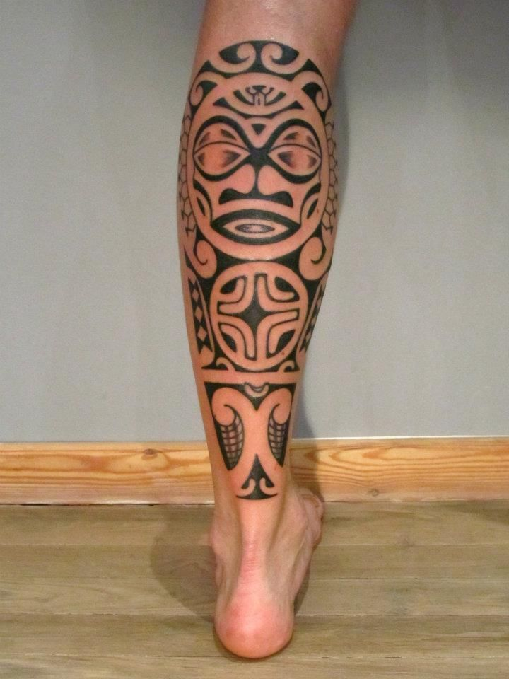 15 unique tribal calf tattoos only tribal. Black Bedroom Furniture Sets. Home Design Ideas