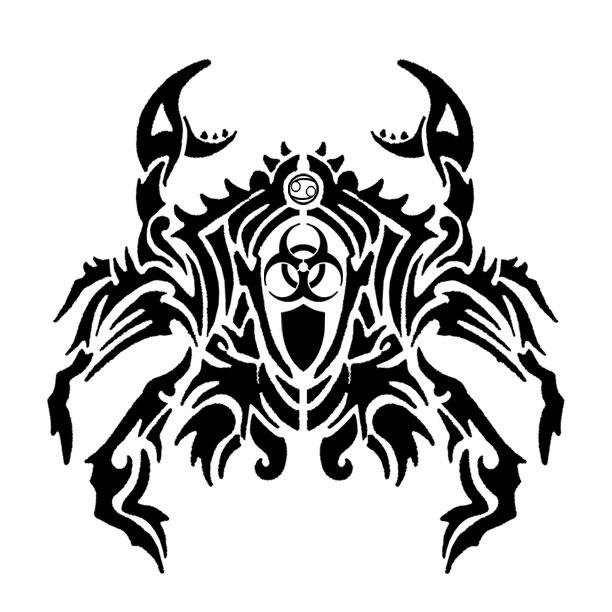 Tattoo Ideas Zodiac: 14 Awesome Tribal Cancer Tattoos