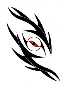 Tribal Dragon Eye Tattoo