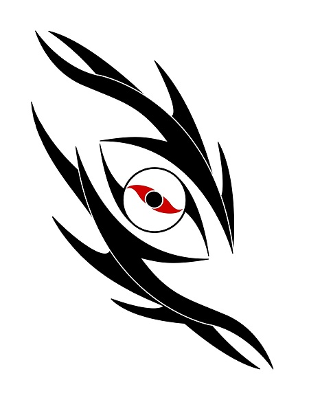 b2a979ea1eb43 Tribal Dragon Eye Tattoo