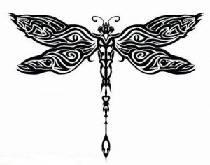 Tribal Dragonfly Tattoo
