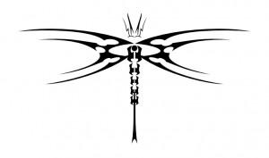 Tribal Dragonfly Tattoos Designs