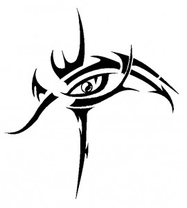 Tribal Eye Tattoo