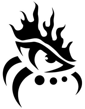 10 tribal eye tattoos only tribal for Easy tribal tattoos