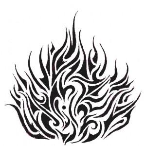 Tribal Flame Tattoo Designs