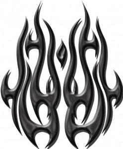 Tribal Flame Tattoo