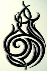 Tribal Flame Tattoos