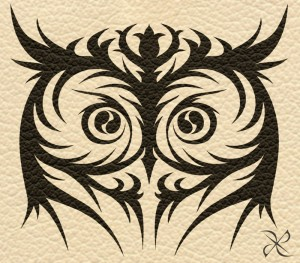 Tribal Owl Eye Tattoo