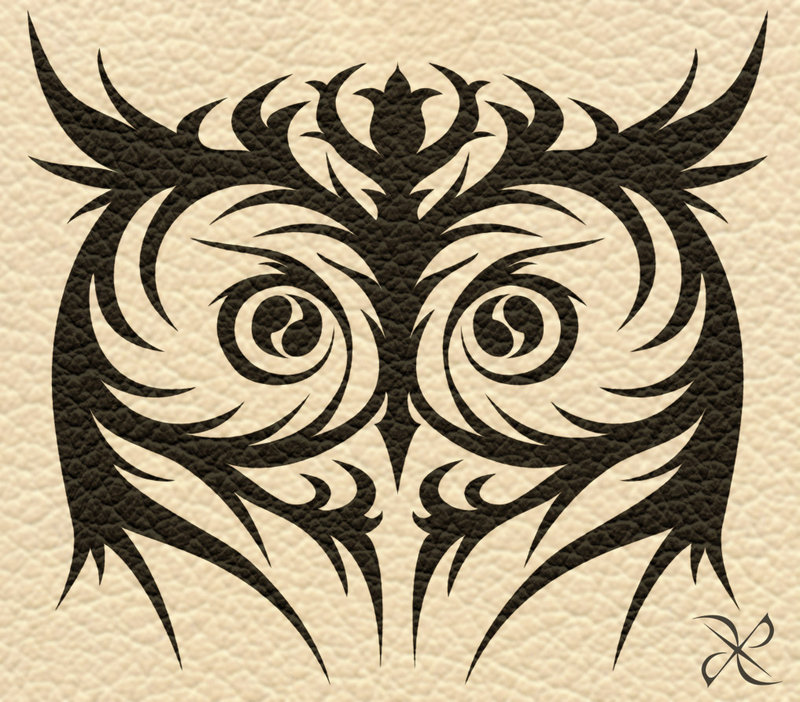 10 tribal eye tattoos only tribal for Tribal owl tattoo